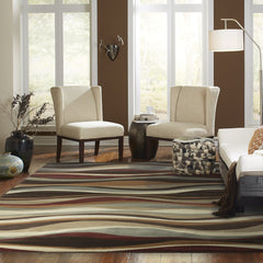 DARCY 4442N Brown, Green Rug - Oriental Weavers