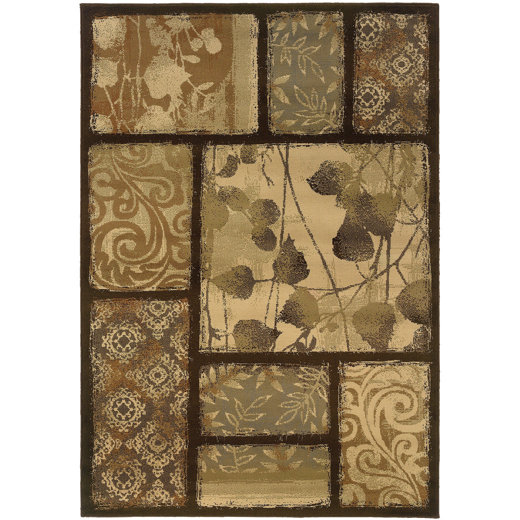 DARCY 8025D Brown, Tan Rug - Oriental Weavers