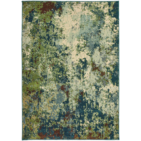 DAWSON 8021B Blue, Green Rug - Oriental Weavers