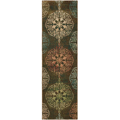 DAWSON 8522C Brown, Red Rug - Oriental Weavers