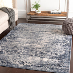 Durham Medium Gray, White Rug - Surya (DUR-1011)