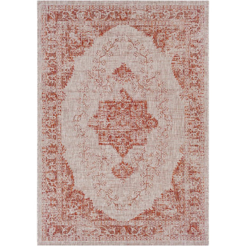 Eagean Dark Red, Light Gray Rug - Surya (EAG-2301)