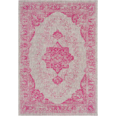 Eagean Bright Pink, Medium Gray Rug - Surya (EAG-2305)