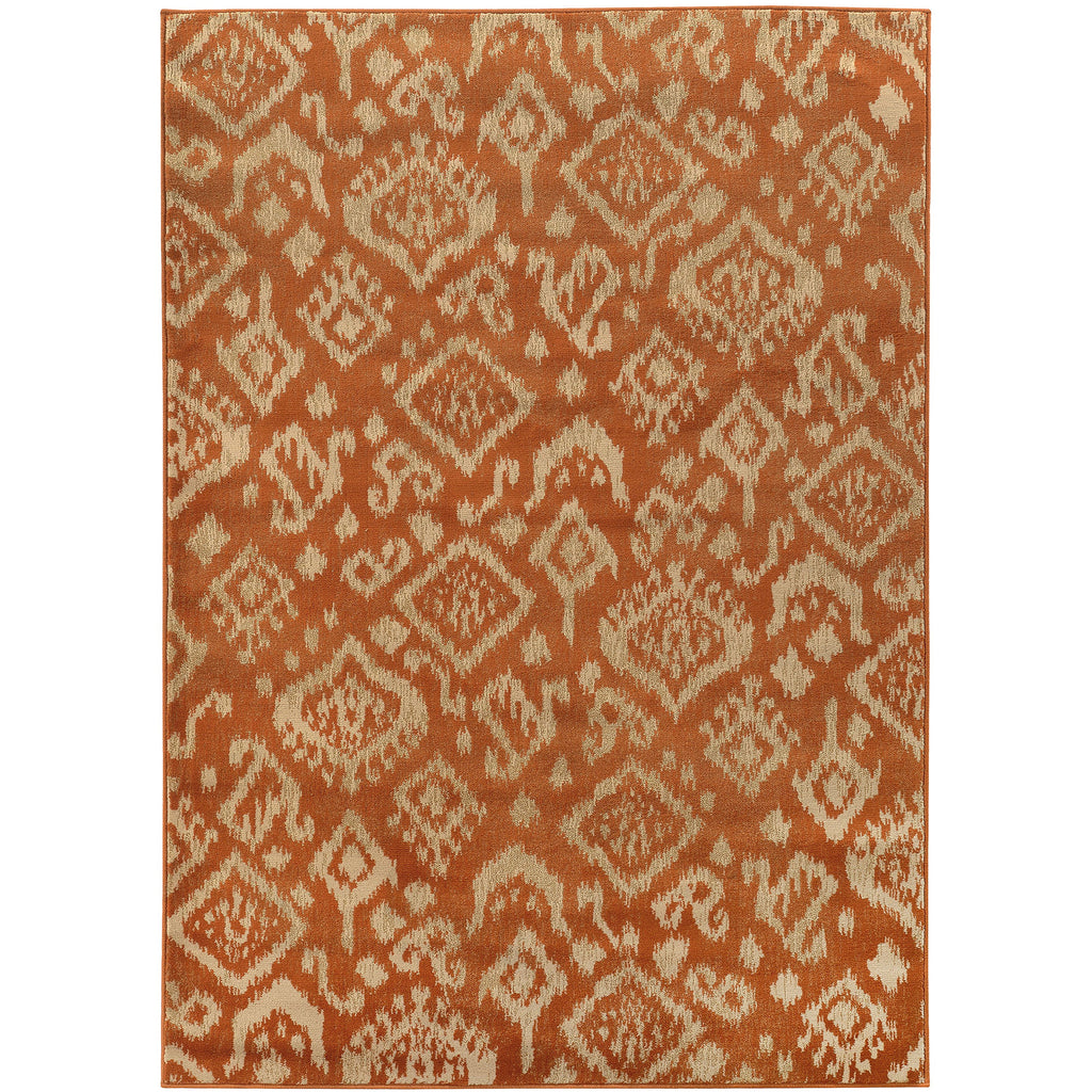 ELLA 5113C Orange, Beige Rug - Oriental Weavers