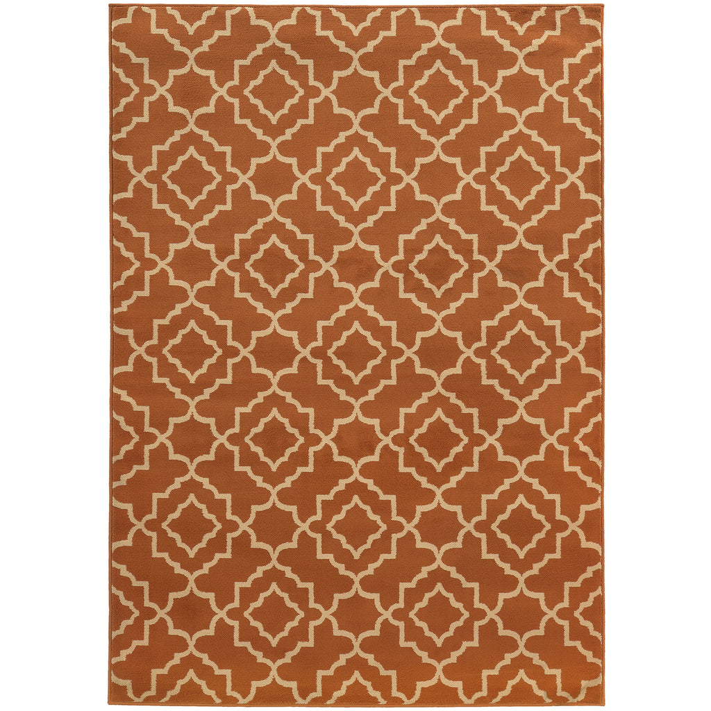 ELLA 5185F Orange, Beige Rug - Oriental Weavers