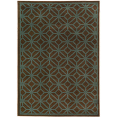 ELLA 5188D Brown, Blue Rug - Oriental Weavers