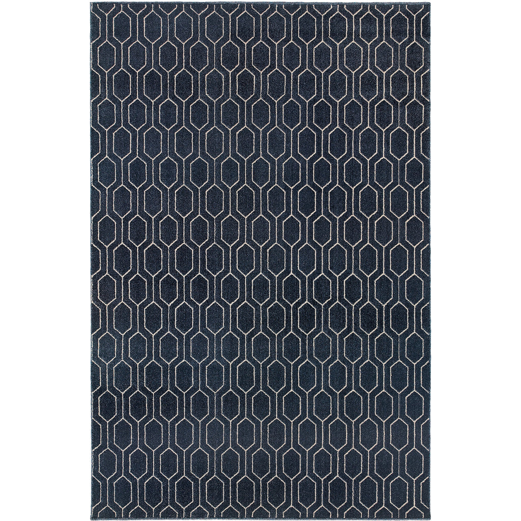 ELLERSON 8021X Navy, Grey Rug - Oriental Weavers