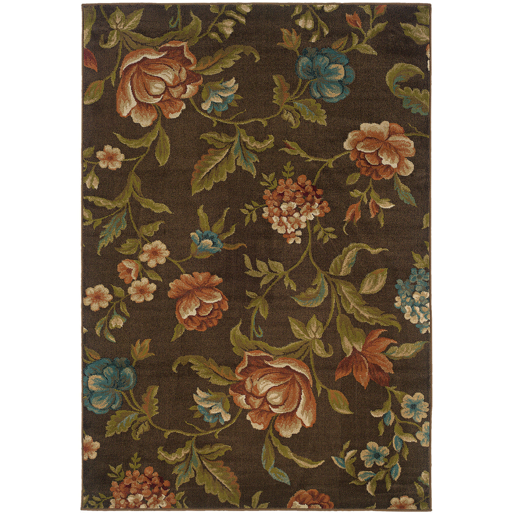 EMERSON 1997A Brown, Green Rug - Oriental Weavers