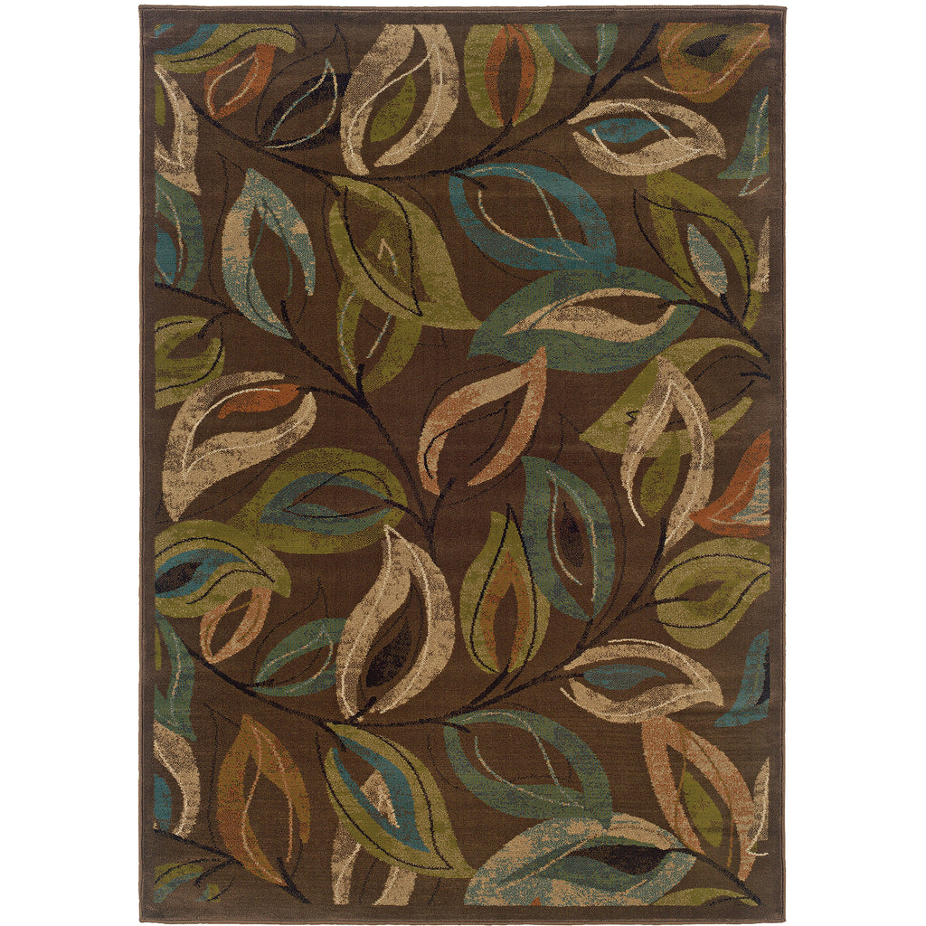 EMERSON 1999A Brown, Green Rug - Oriental Weavers