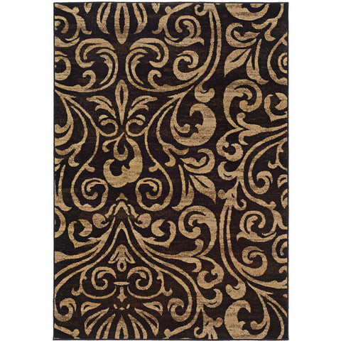 EMERSON 2033C Black, Gold Rug - Oriental Weavers