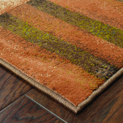 EMERSON 2231A Brown, Gold Rug - Oriental Weavers