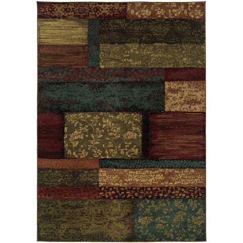 EMERSON 2480C Brown, Teal Rug - Oriental Weavers
