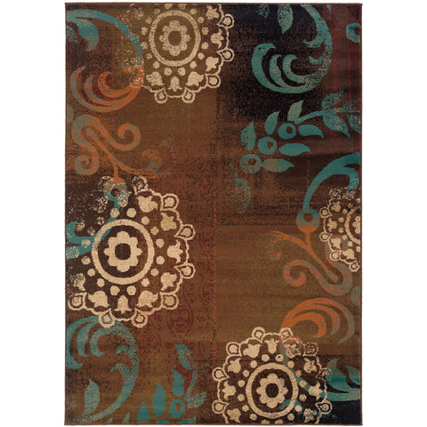 EMERSON 2822A Brown, Blue Rug - Oriental Weavers