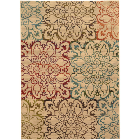 EMERSON 4872A Ivory, Red Rug - Oriental Weavers