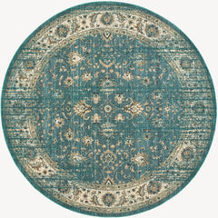 EMPIRE 114L4 Blue, Ivory Rug - Oriental Weavers