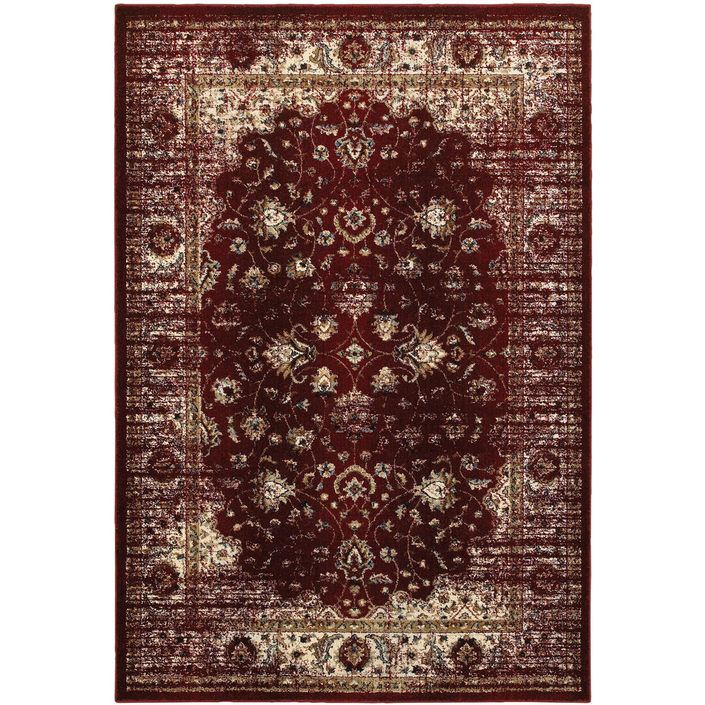 EMPIRE 114R4 Red, Ivory Rug - Oriental Weavers