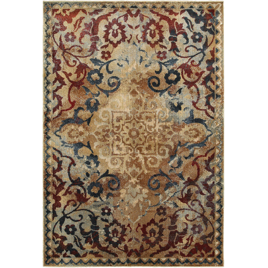 EMPIRE 021J4 Gold, Red Rug - Oriental Weavers
