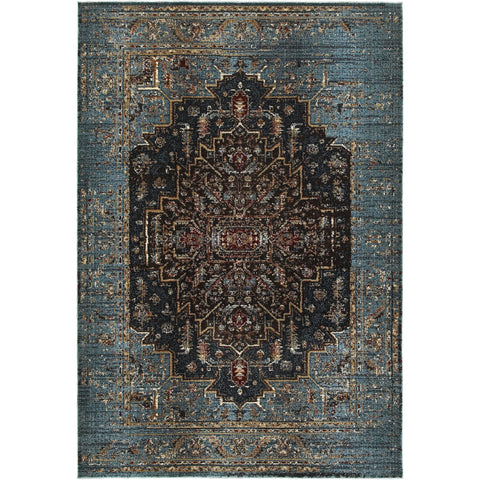 EMPIRE 4440L Blue, Navy Rug - Oriental Weavers