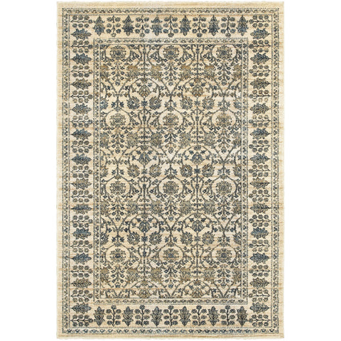EMPIRE 501U4 Ivory, Blue Rug - Oriental Weavers