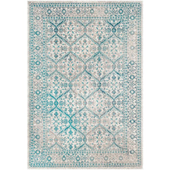 Rafetus Teal, Medium Gray Rug - Surya (ETS-2332)