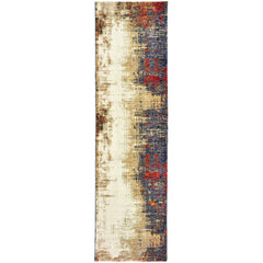 EVOLUTION 8001A Ivory, Red Rug - Oriental Weavers