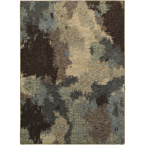 EVOLUTION 8011B Blue, Brown Rug - Oriental Weavers