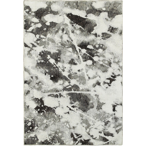 EVOLUTION 8035B Charcoal, White Rug - Oriental Weavers