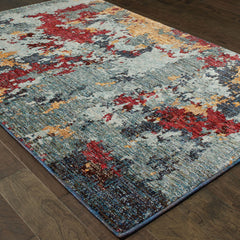 EVOLUTION 8036C Blue, Red Rug - Oriental Weavers