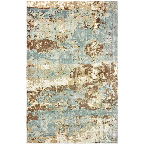 FORMATIONS 70001 Blue, Brown Rug - Oriental Weavers