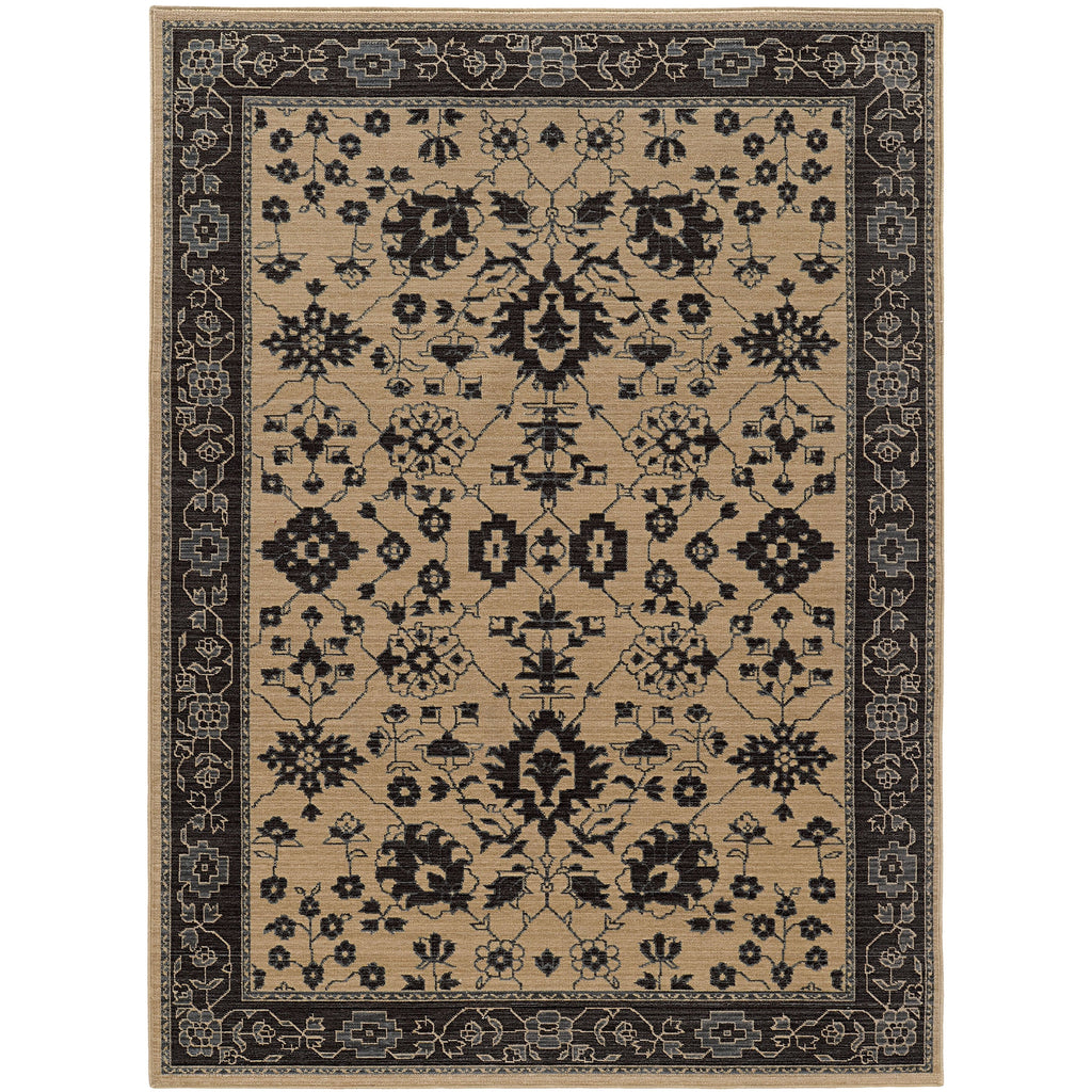 FOUNDRY 596I5 Sand, Grey Rug - Oriental Weavers