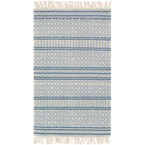 Farmhouse Tassels Denim, White Rug - Surya (FTS-2301)