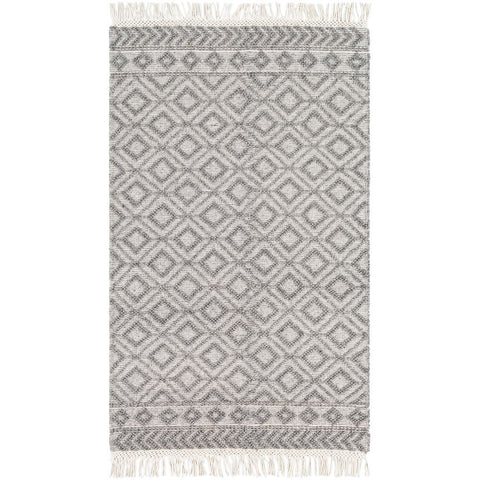 Farmhouse Tassels Black, White Rug - Surya (FTS-2302)