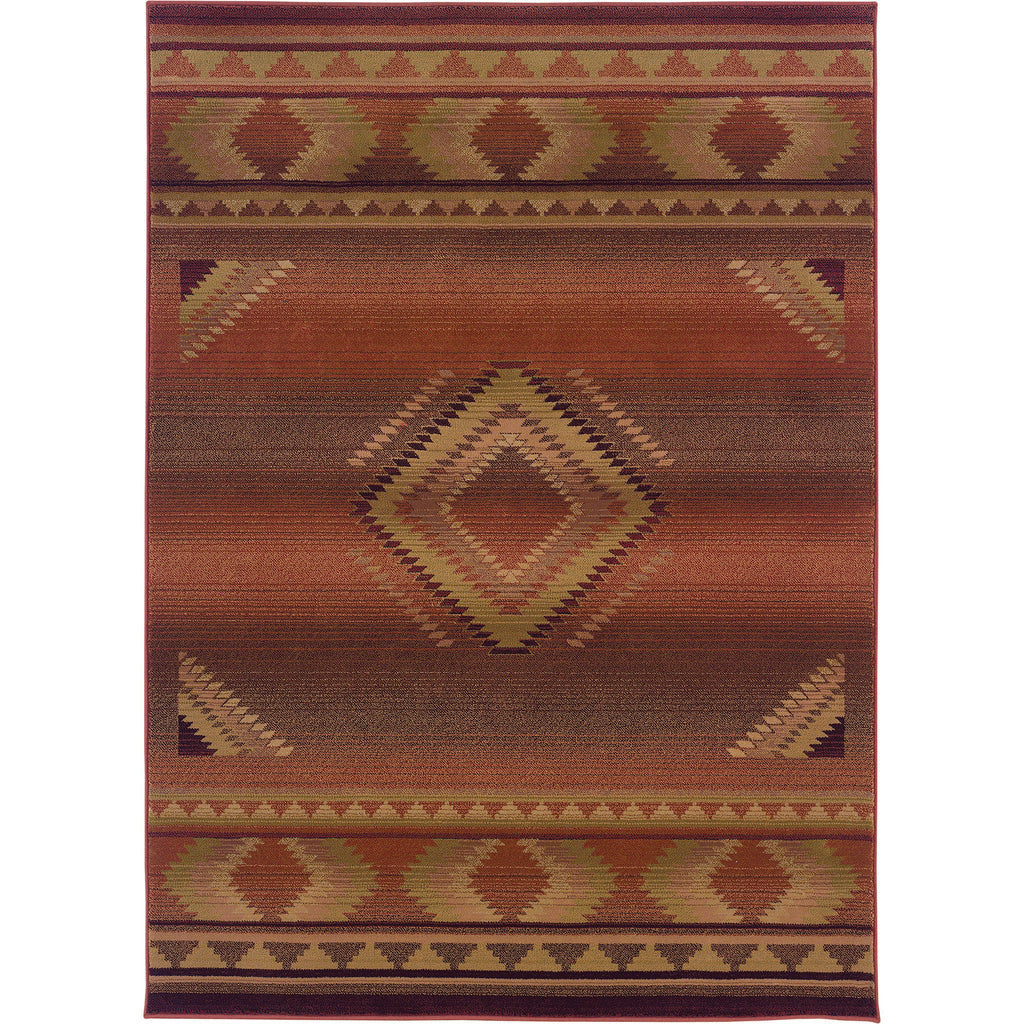 GENERATIONS 1506C Red, Beige Rug - Oriental Weavers