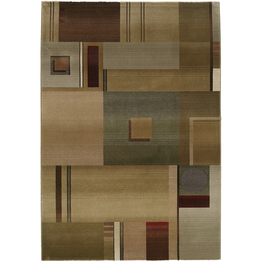 GENERATIONS 157G1 Green, Red Rug - Oriental Weavers