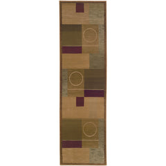 GENERATIONS 1987G Green, Brown Rug - Oriental Weavers