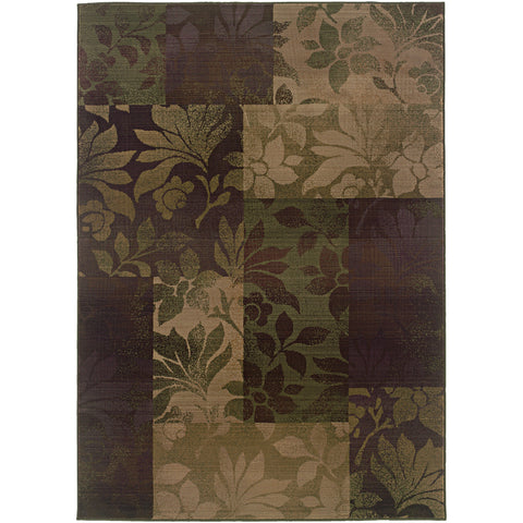GENERATIONS 8006A Purple, Green Rug - Oriental Weavers