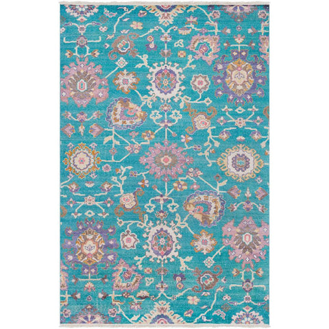 Gorgeous Teal, Dark Purple Rug - Surya (GGS-1007)
