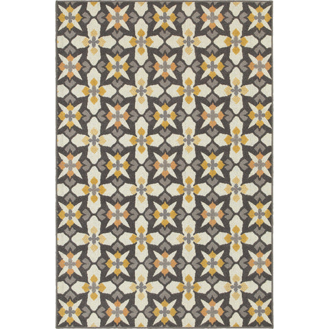 HAMPTON 8021L Grey, Gold Rug - Oriental Weavers
