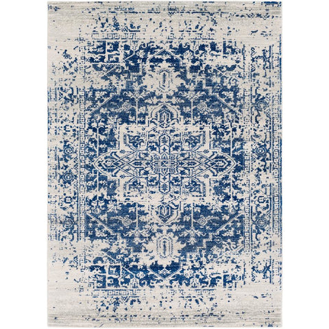 Harput Dark Blue, Light Gray Rug - Surya (HAP-1021)