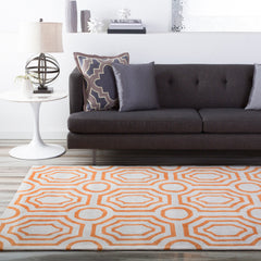 Hudson Park Bright Orange, Cream Rug - Surya (HDP-2009)