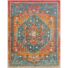 Herati Bright Orange, Rust Rug - Surya (HER-2301)