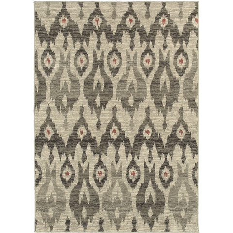 HIGHLANDS 6301E Ivory, Grey Rug - Oriental Weavers