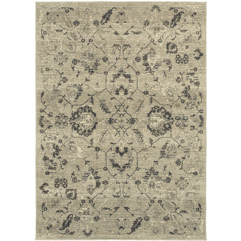 HIGHLANDS 6684D Beige, Grey Rug - Oriental Weavers