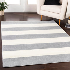 Horizon Medium Gray, Cream Rug - Surya (HRZ-1094)