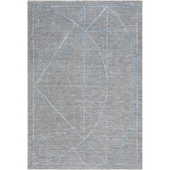 Hightower Medium Gray, Charcoal Rug - Surya (HTW-3009)