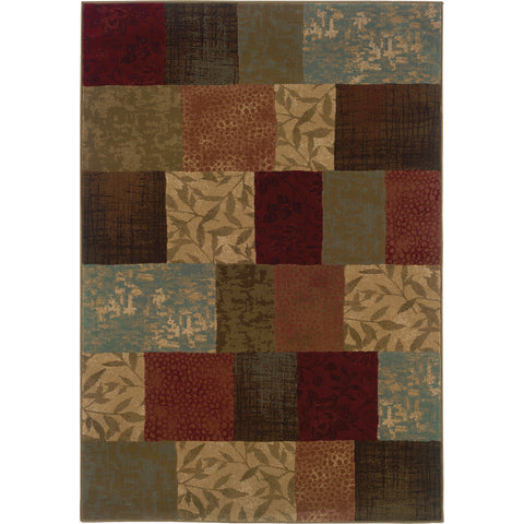 HUDSON 030C1 Green, Red Rug - Oriental Weavers