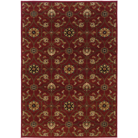 HUDSON 3299A Red, Brown Rug - Oriental Weavers