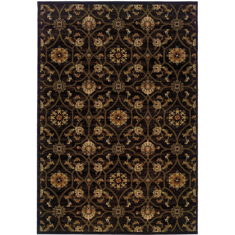 HUDSON 3299B Black, Brown Rug - Oriental Weavers