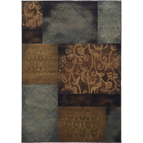 HUDSON 4878B Blue, Brown Rug - Oriental Weavers