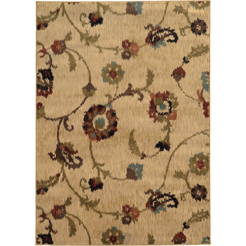 HUDSON 4887B Gold, Green Rug - Oriental Weavers